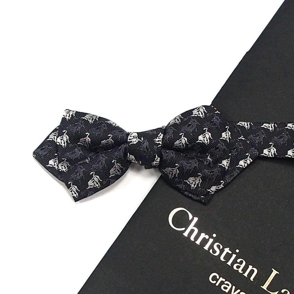 Черный галстук-бабочка с вышивкой Christian Lacroix 818542