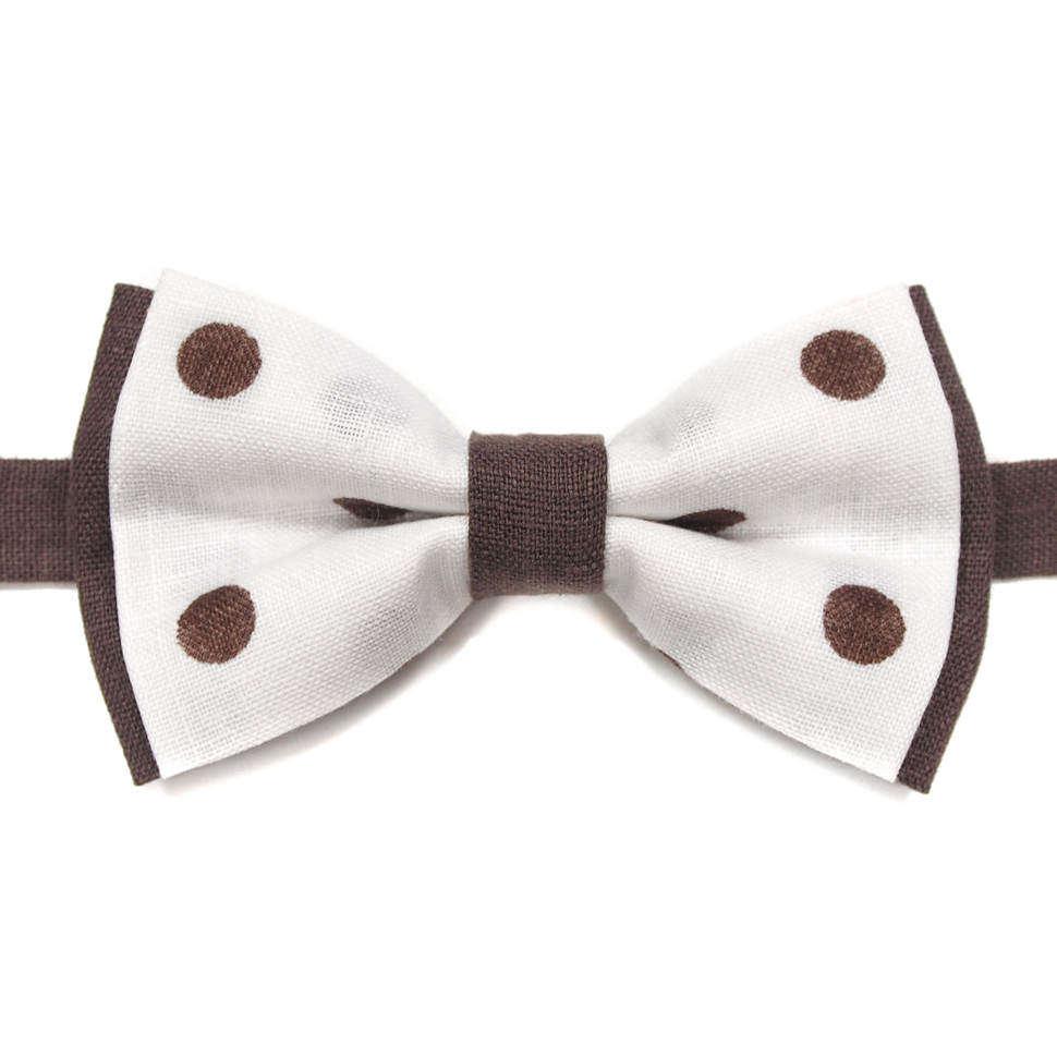 Модный галстук бабочка в горошек 814333