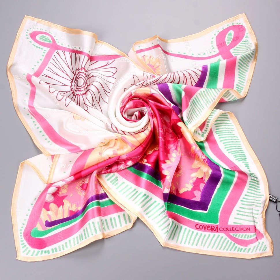 Светлый модный молодежный женский платок Enrico Coveri K8AZ9