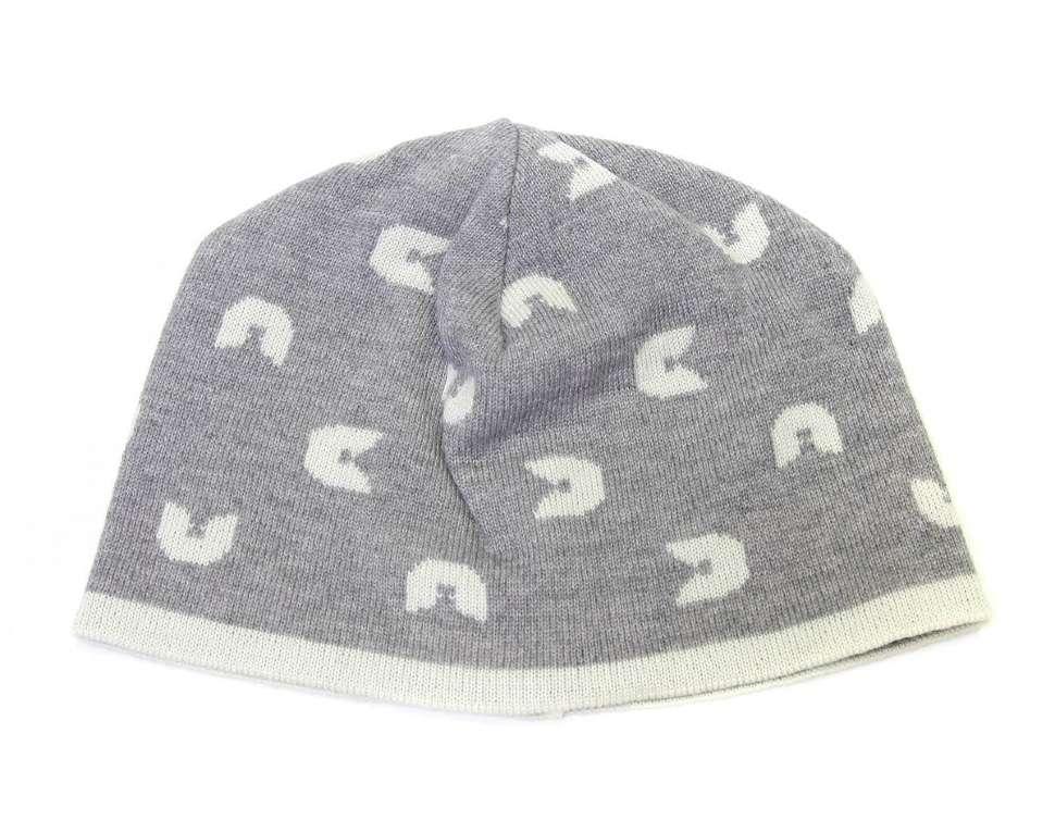 Серая шапка с белыми лого ЖанФранко Ферре 14079