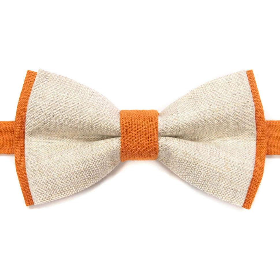 Бело-рыжий галстук бабочка 814366