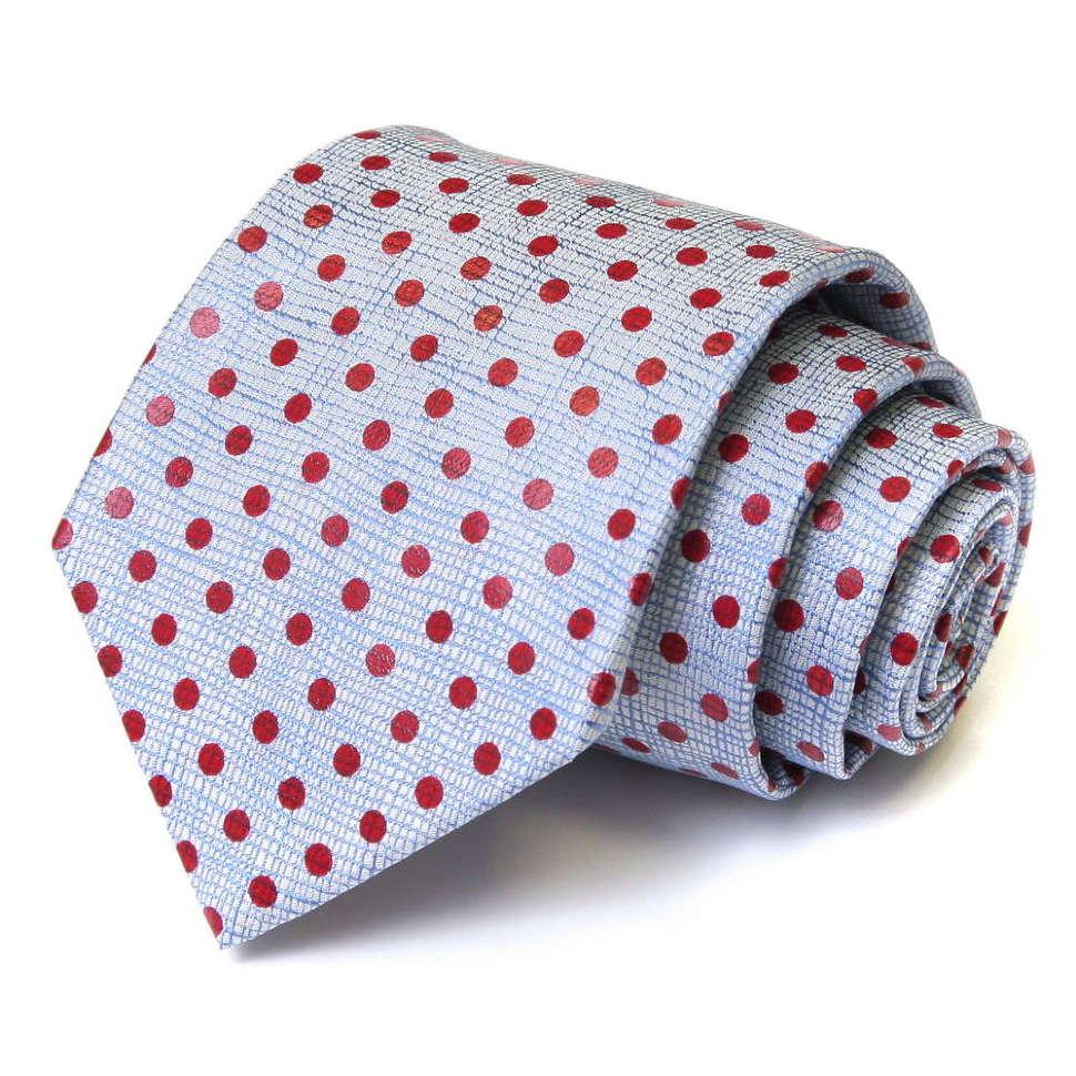 Светлый галстук в красный горошек Viktor Rolf 55650