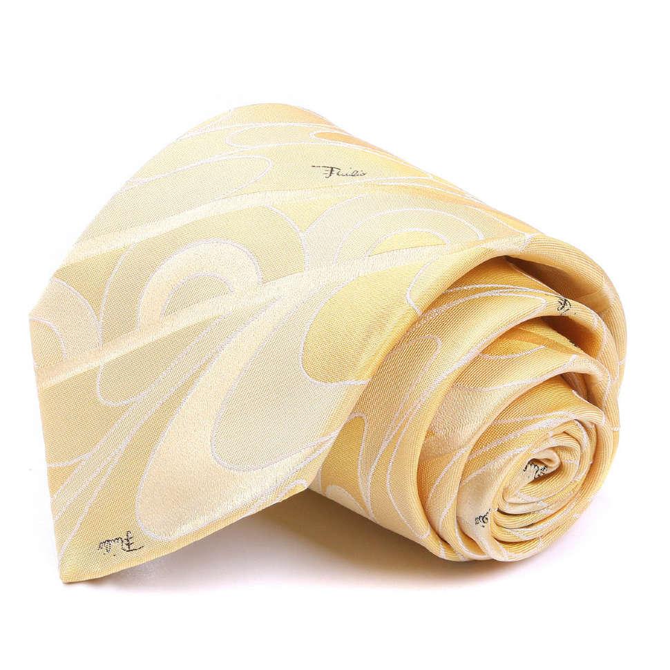 Модный мужской галстук в желтых оттенках Emilio Pucci 66688