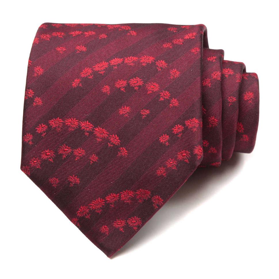 Стильный мужской галстук в темно-вишневых тонах Ungaro 63442