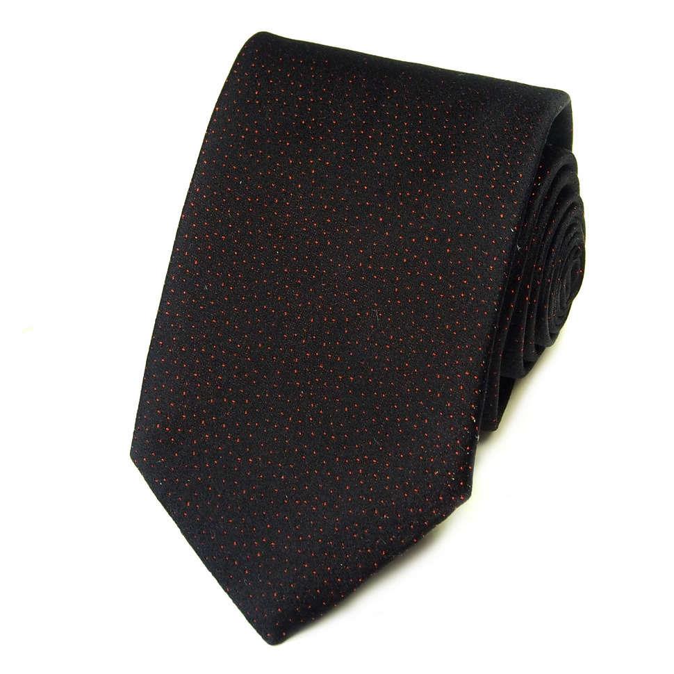 Черный галстук в мелкую розовую точку Kenzo Takada 826176