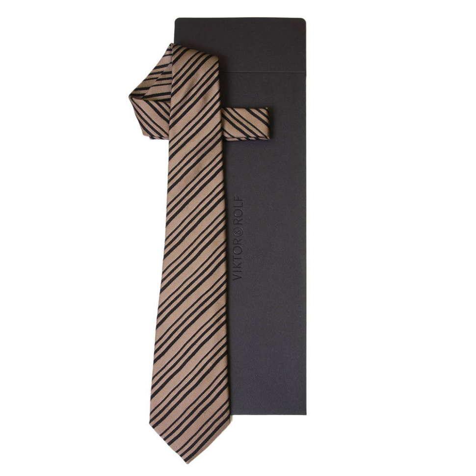 Молодежный галстук в черную полоску Viktor Rolf 55772