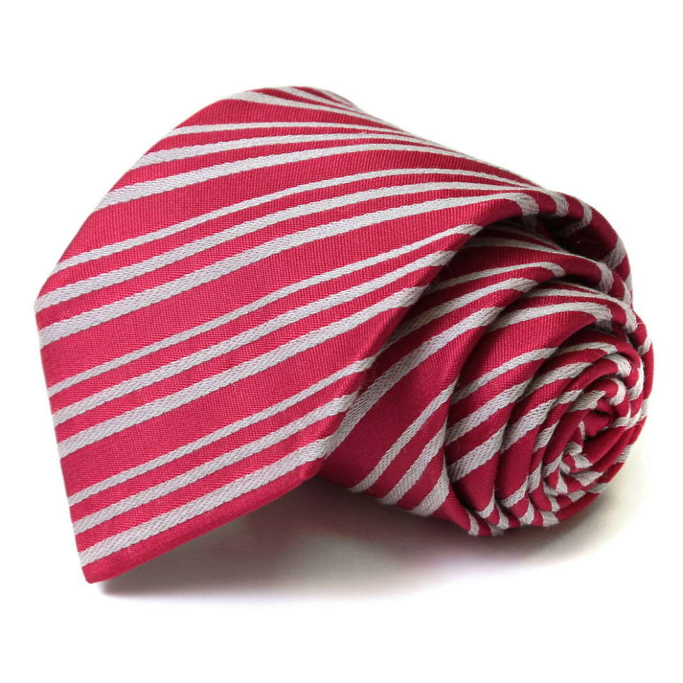 Красный галстук в белую полоску Viktor Rolf 55781