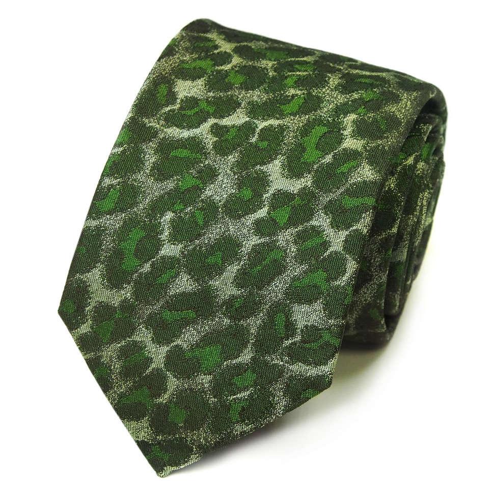 Нежно-зеленый галстук с пятнами травянистого цвета Kenzo Takada 826209