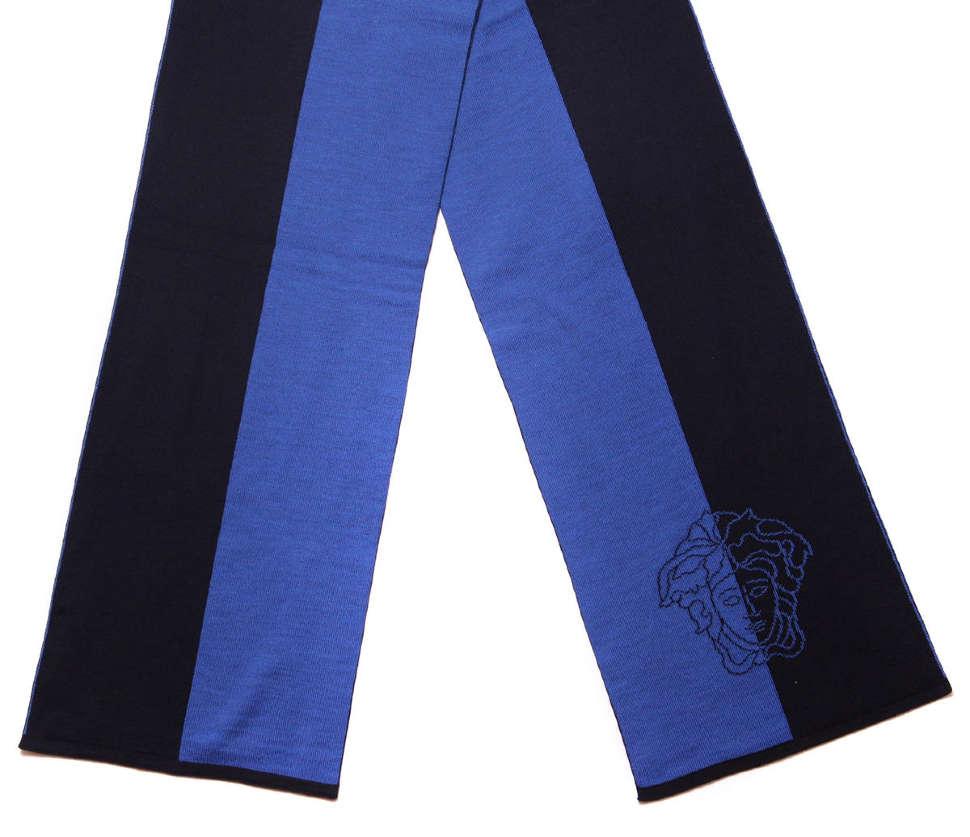 Шерстяной шарф с логотипами Versace 13632