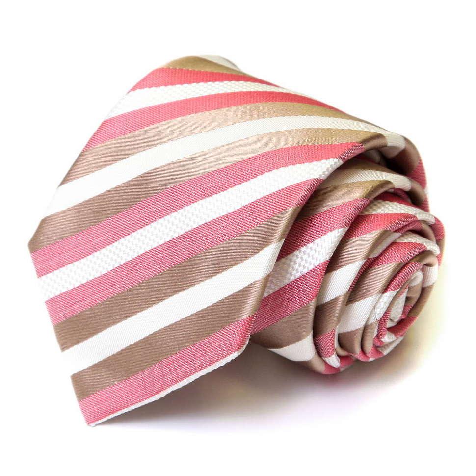Полосатый галстук в светлых тонах Viktor Rolf 55857