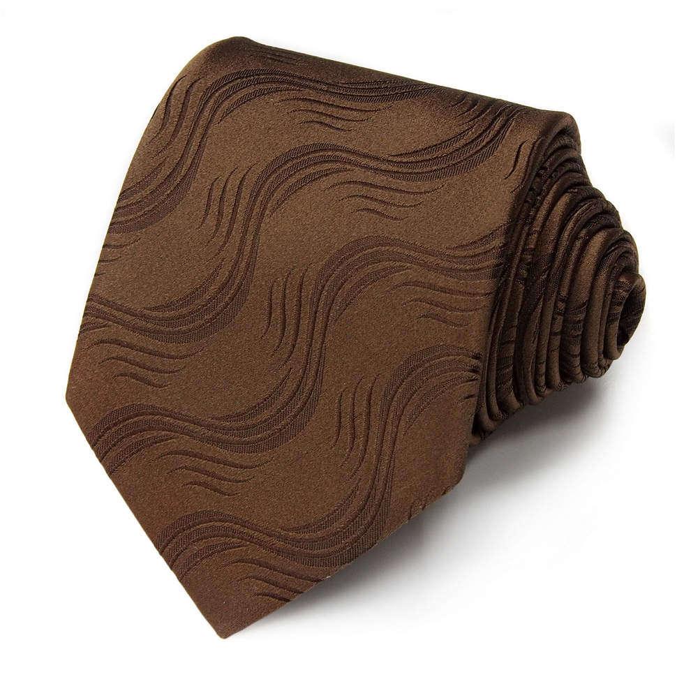 Элегантный коричневый галстук с волнами Gianfranco Ferre 828068