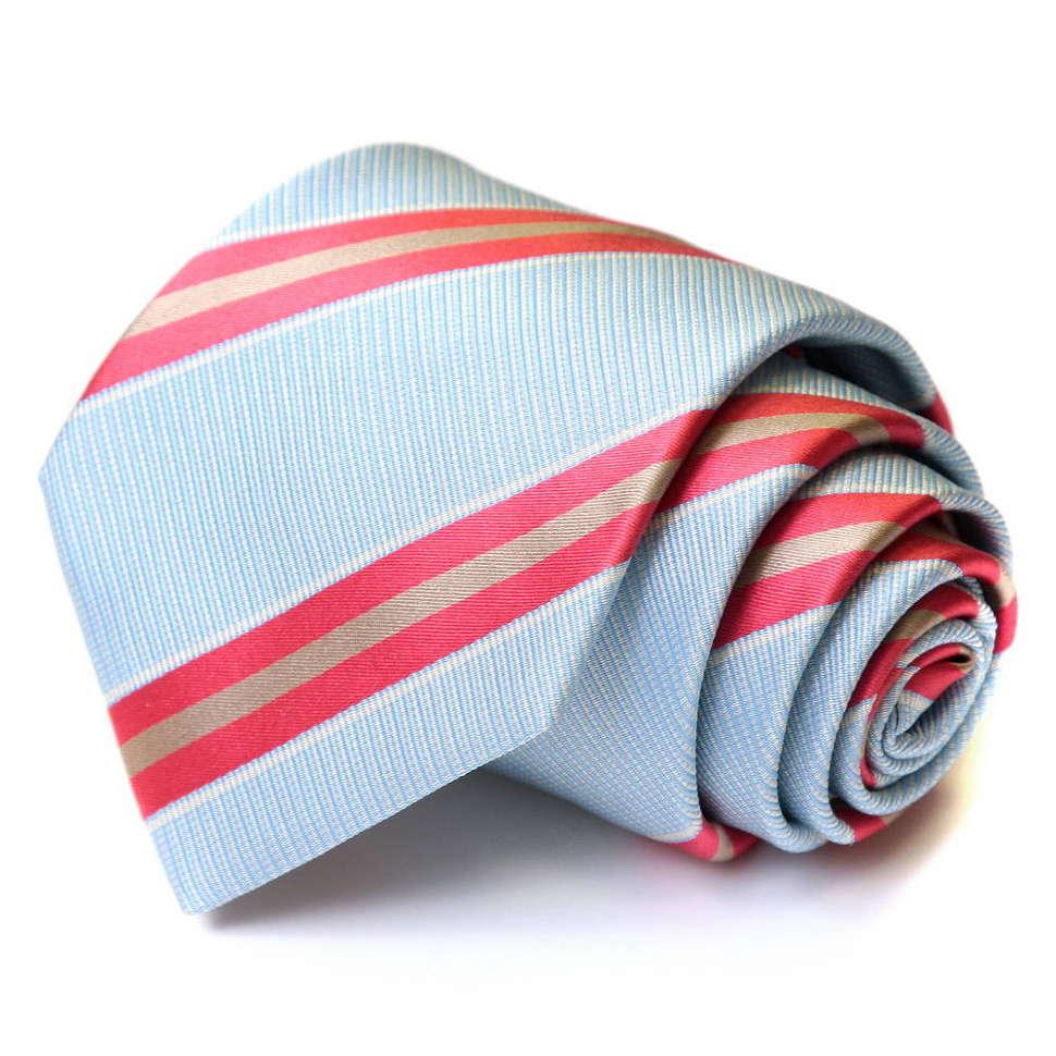 Светлый галстук в красную подоску Viktor Rolf 55914