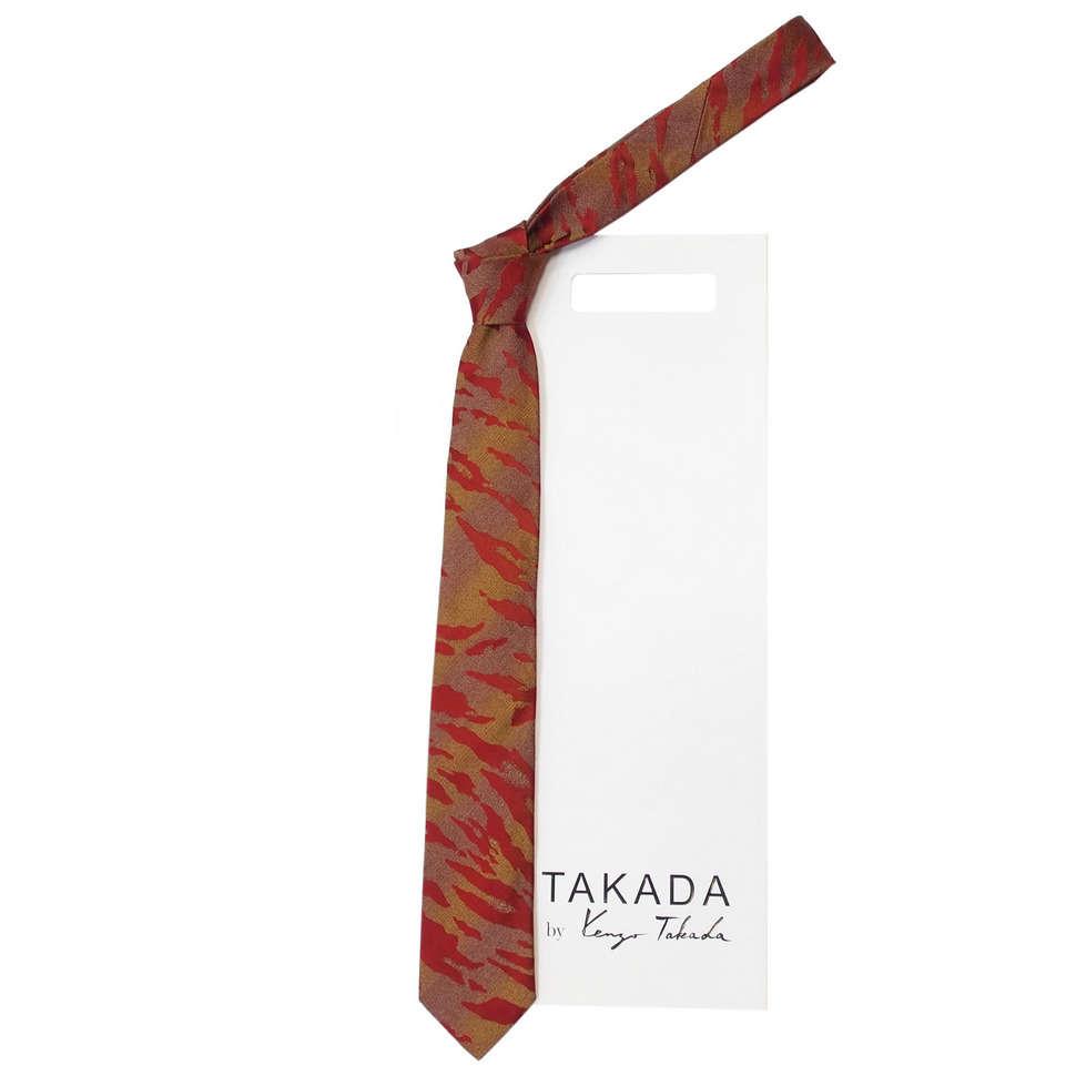 Бордовый галстук с необычным дизайном Kenzo Takada 826328