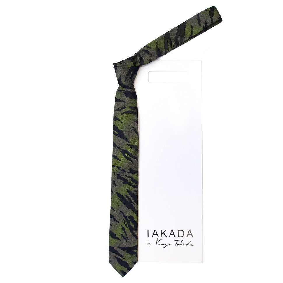 Черный галстук с дизайном хамелеон Kenzo Takada 826338
