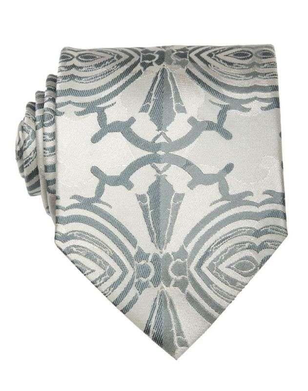 Модный светлый галстук с узором Кристиан Лакруа 1934