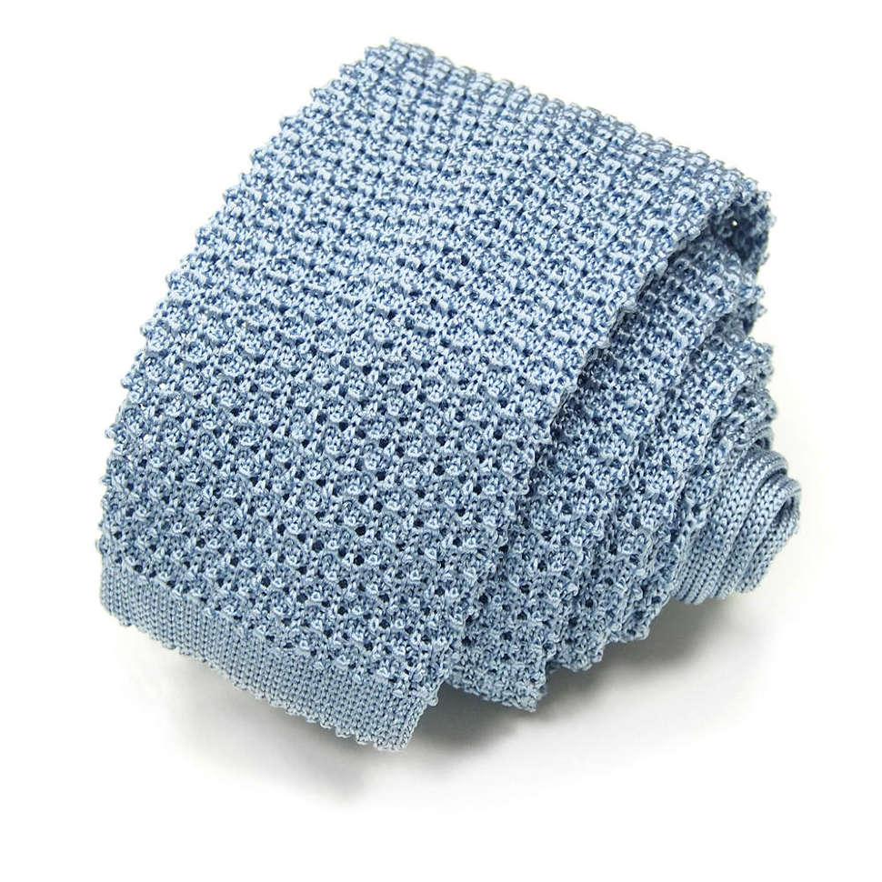 Бледно-голубой однотонный молодежный галстук Missoni 8ZAFK9