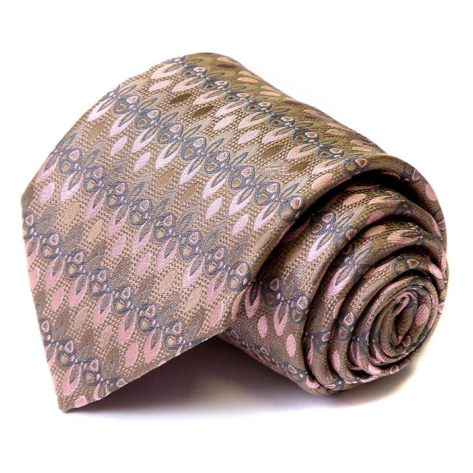 Шелковый мужской галстук в нейтральных тонах Emilio Pucci 62026