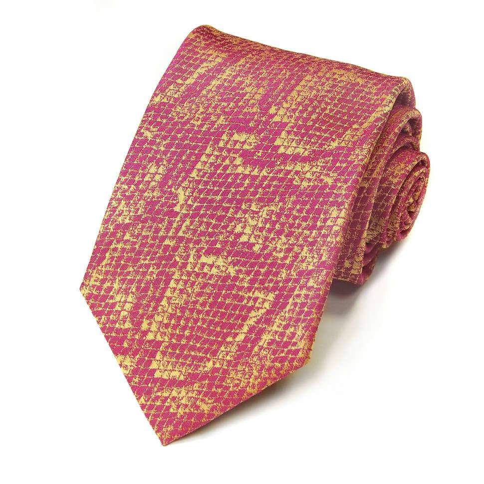 Малиновый шелковый галстук с дизайном Kenzo Takada 826391
