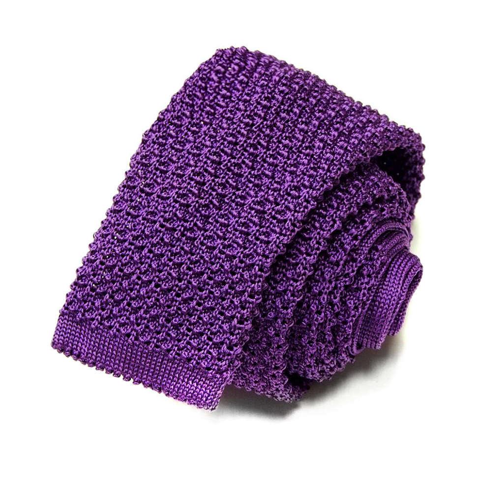 Фиолетовый вязаный галстук для мужчин Missoni 8ZAF9F