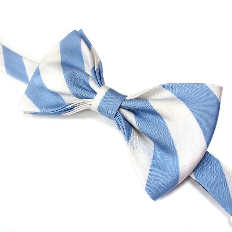 налстук под бело-голубую рубашку в полоску развития