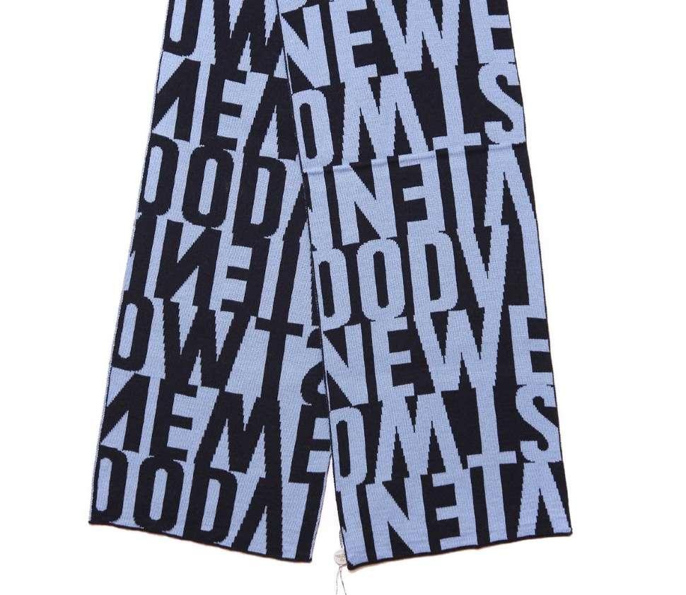 Темно-синий шарф с голубыми лого Westwood 14249