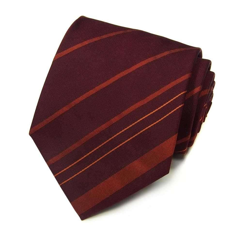 Темно-бордовый галстук соранжевыми полосами Celine 823478