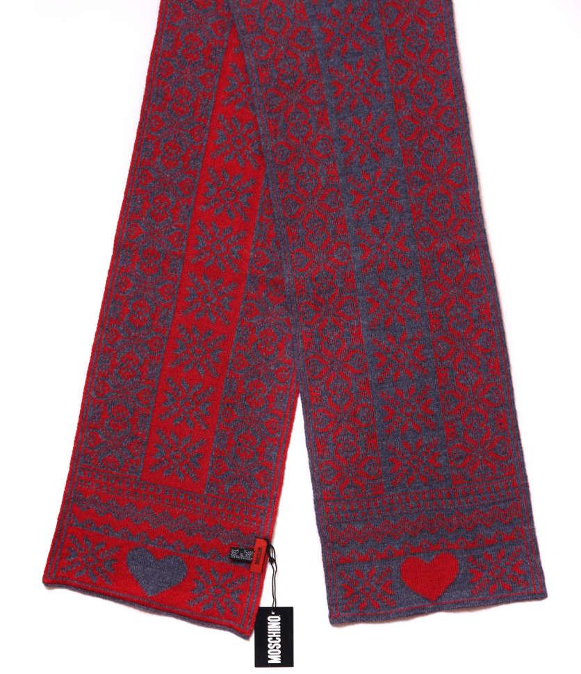 Модный шарф унисекс с сердечком MOSCHINO 13818