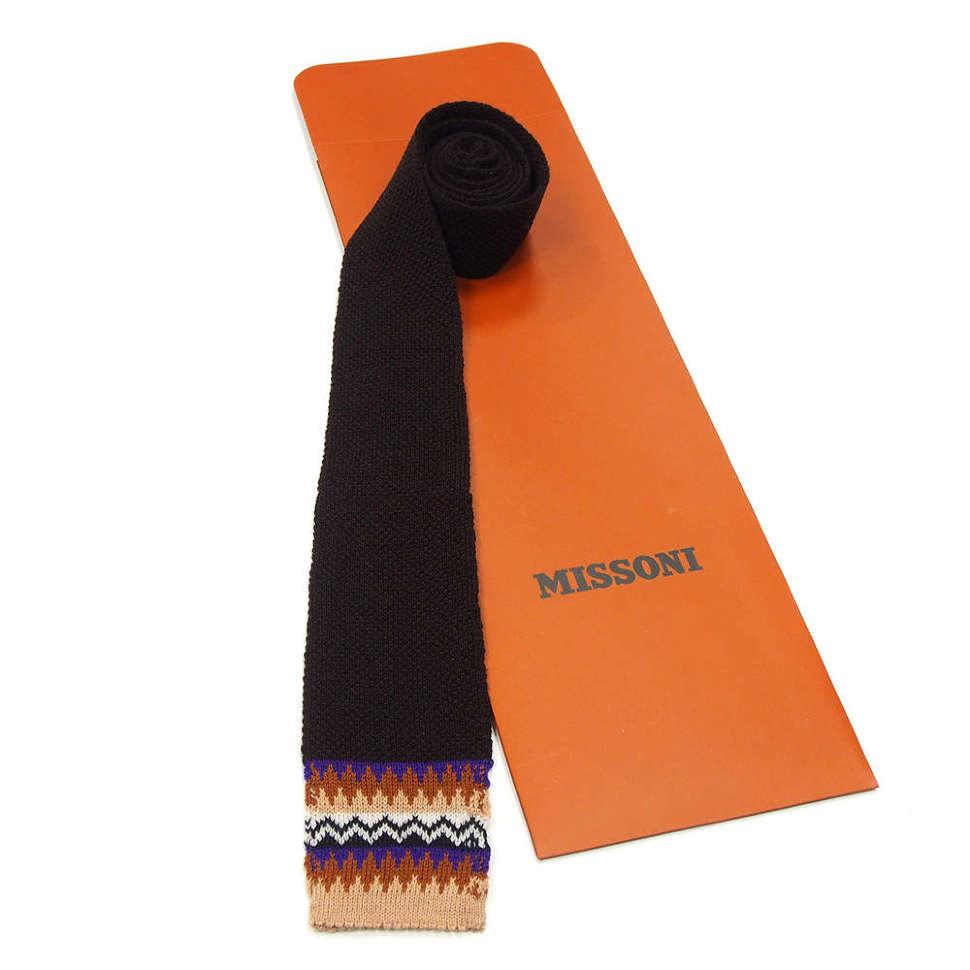 Черный галстук оригинального дизайна Missoni 8ZAKFD