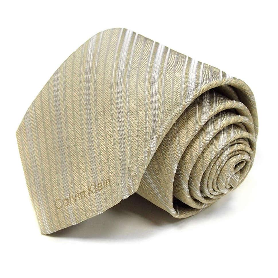Полосатый галстук в песочных тонах Calvin Klein SAAAA8