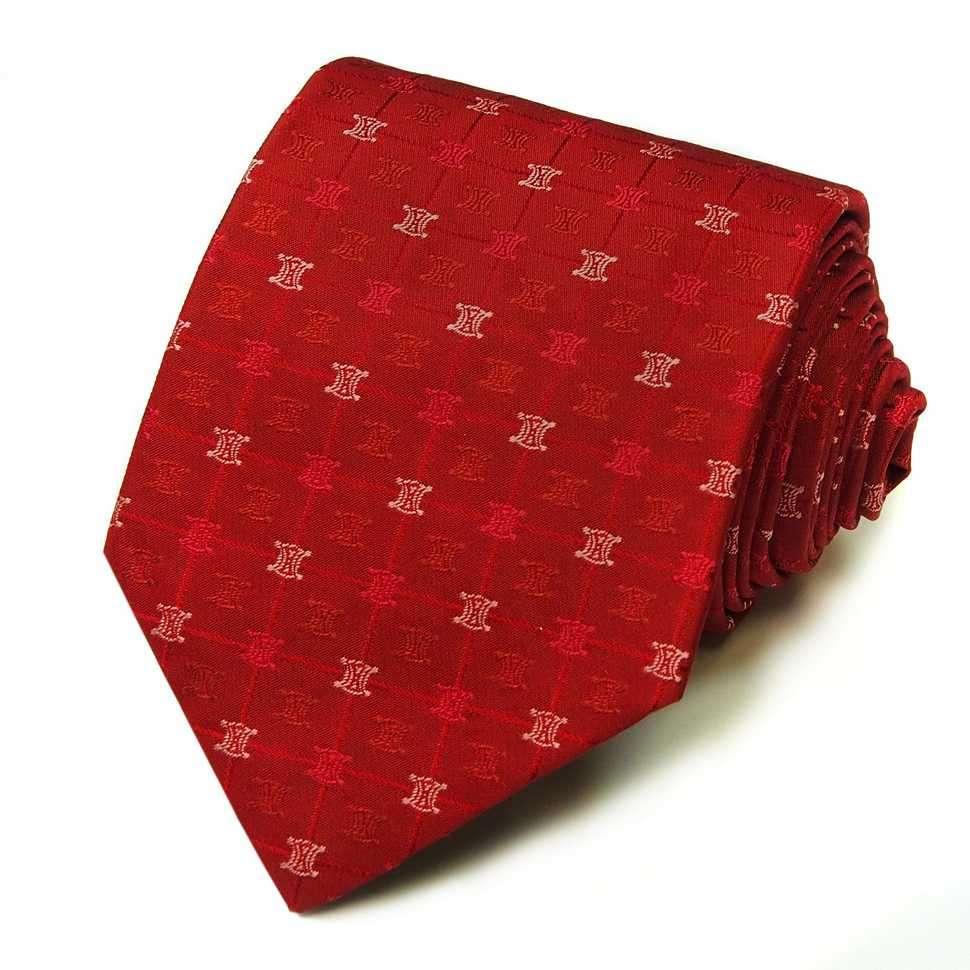 Стильный красный мужской галстук Celine 823511