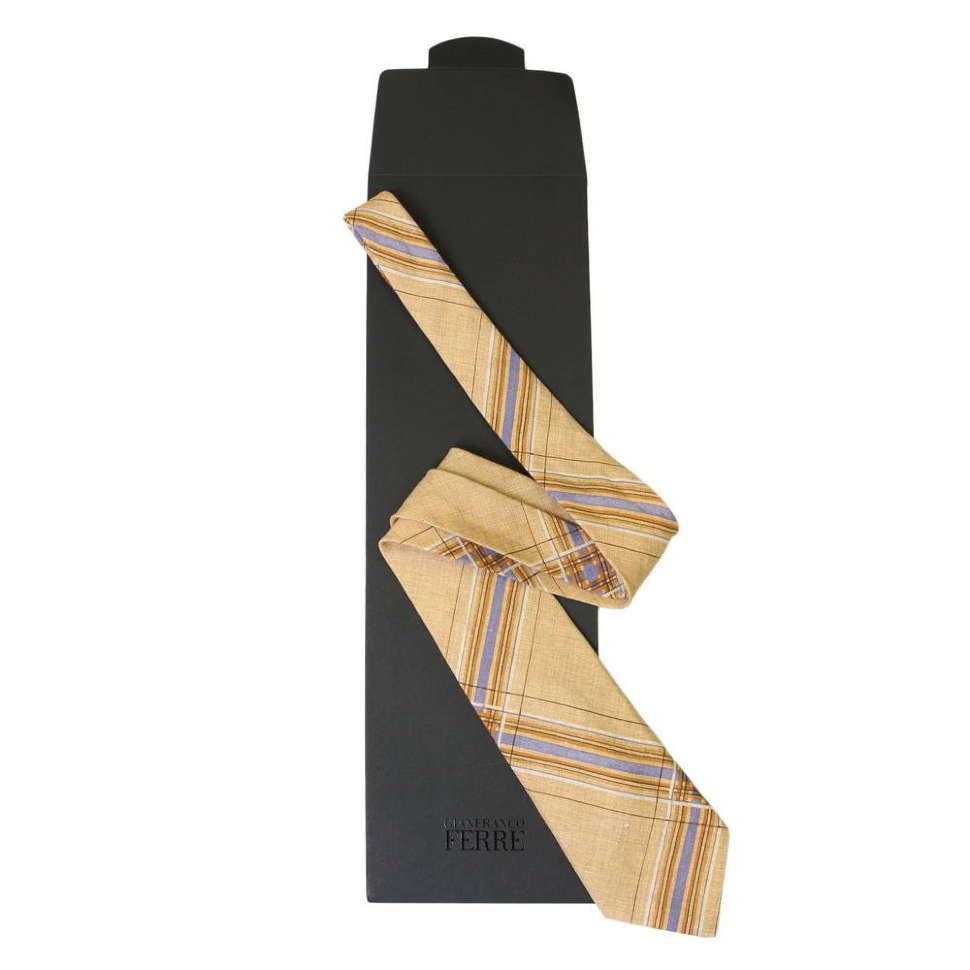Оригинальный молодежный песочный галстук GianFranco Ferre 54143